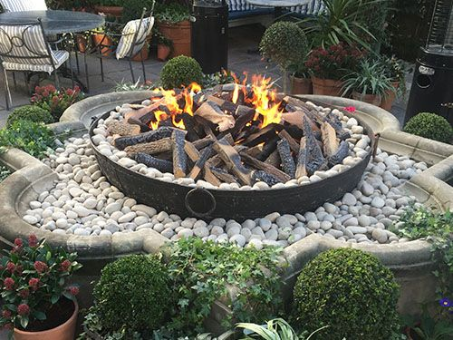 Ivy Chelsea Restaurant - Real Flame Fireplace