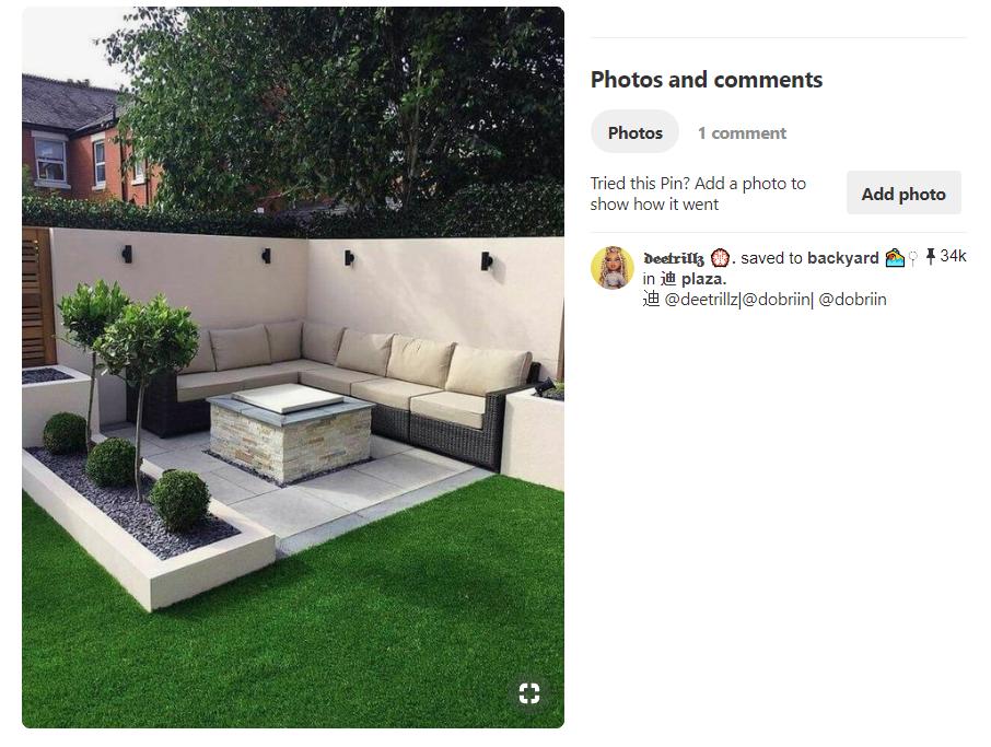 Minimalist Outdoor Garden Area