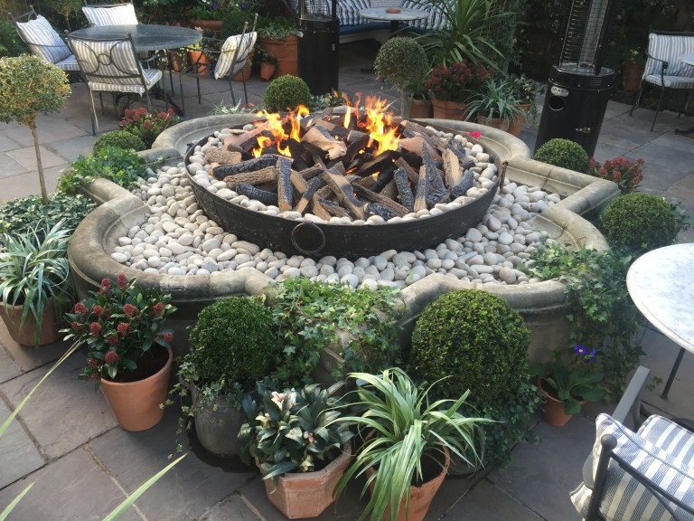 The Ivy Chelsea fire installation by Real Flame