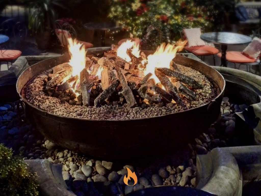 Real Flame Outdoor Fire