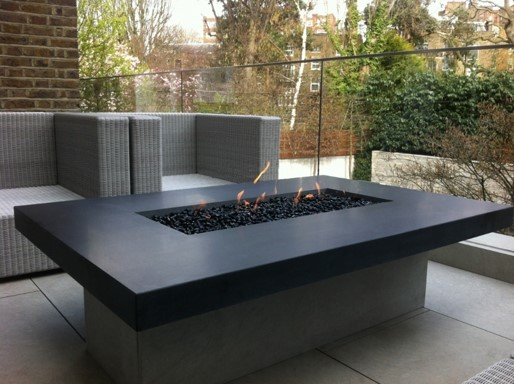 outdoor realflame fire, hearth era fire inspiration