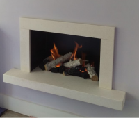 Floating Hearth hole in the wall fireplace