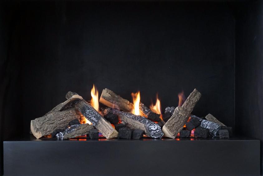 Black Steel Platform Grate Fires