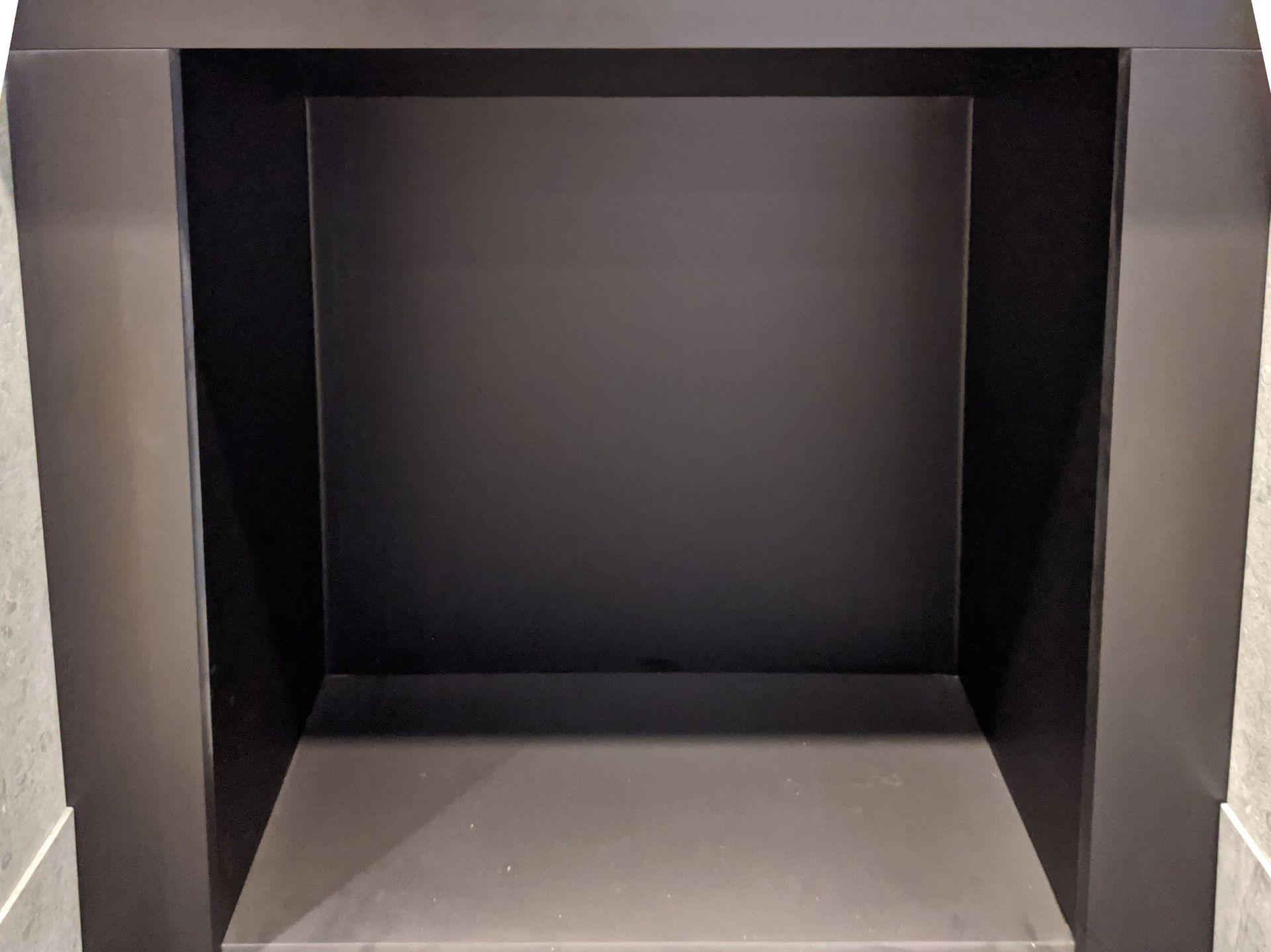 Bespoke Black Steel Fire Chamber